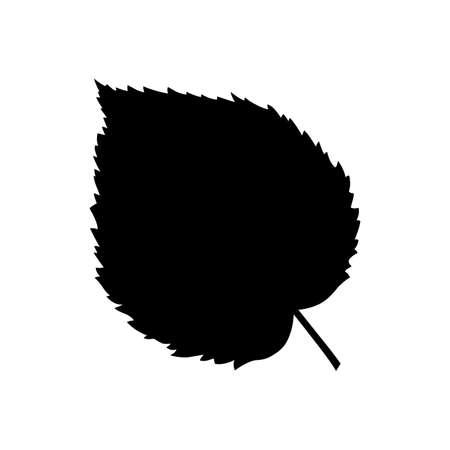 feuille arbre: Feuille d'arbre à noisette Illustration