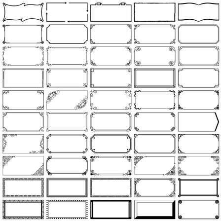 Vijftig rechthoekige frames Vector Illustratie