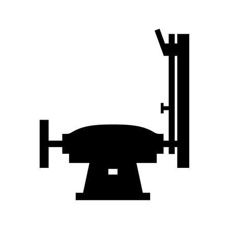 Grinder machine icon, silhouette shaded picture. isolated in white. Illustration