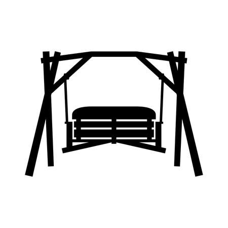 Swinging bench, shade picture Ilustrace