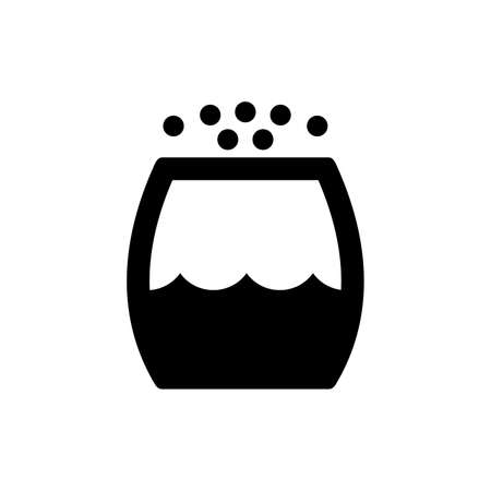 Black and white Air humidifier icon