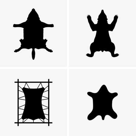Set di pelli di animali, foto all'ombra Archivio Fotografico - 84650174