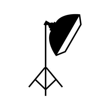 Studio flash with a soft box