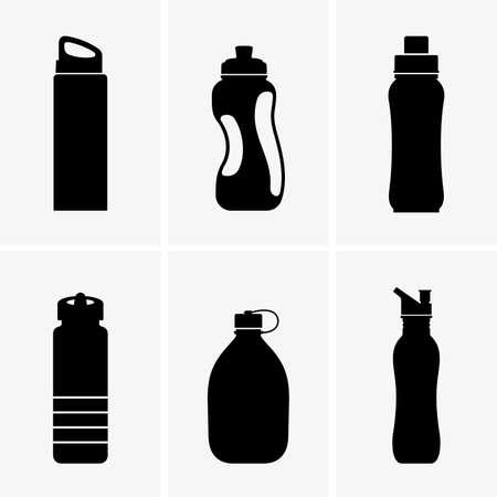 Set of touristic bottles Ilustrace