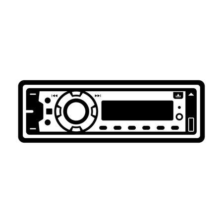 車のラジオのアイコン。  イラスト・ベクター素材