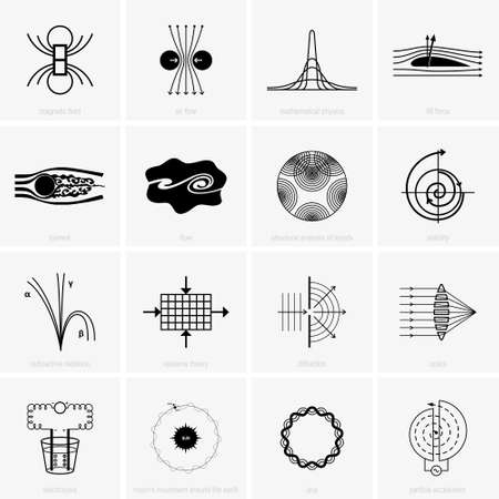 Physical phenomena and science icons