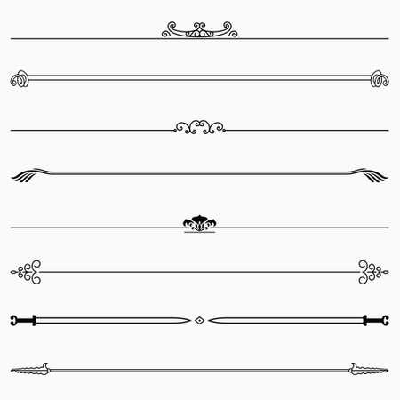 Set of decorative floral dividers Illustration