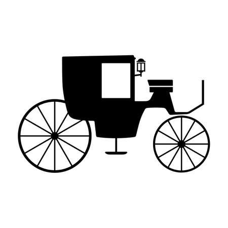 Vintage carriage icon