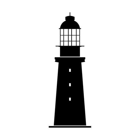 Tower light house or offshore light tower, shade picture