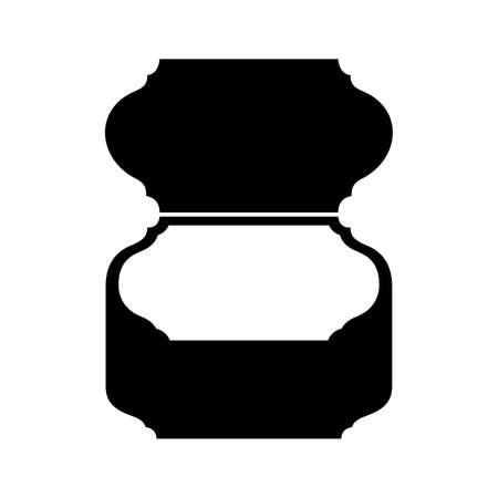 Snuffbox or tobacco box, shade picture. Ilustrace