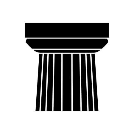 Column cap, architectural element ( shade picture ) Illustration
