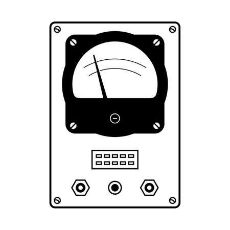 Front view of a avometer.