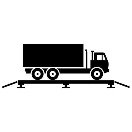 Truck on the truck scales, shade picture Vectores