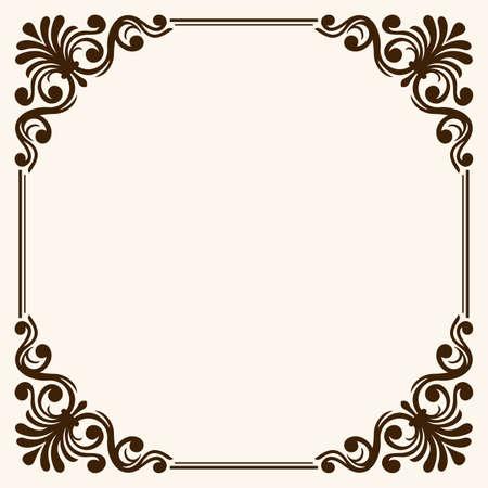 Frame with decorative corners