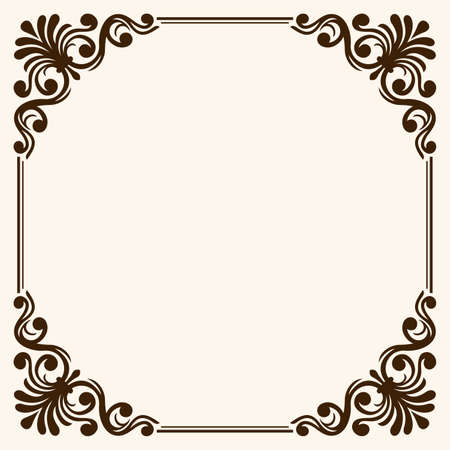 Frame with decorative corners
