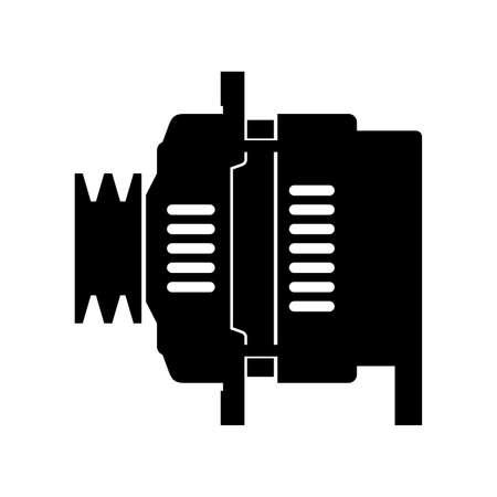Car automotive alternator, shade picture