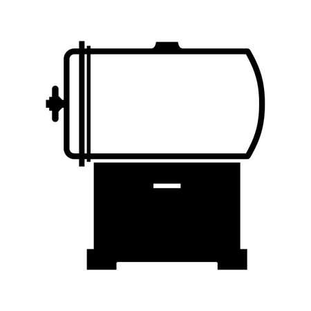Autoclave (pressure chamber), shade picture Vektoros illusztráció