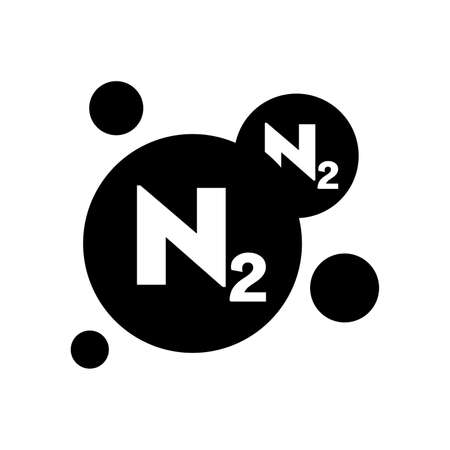 Nitrogen symbol chemical element.
