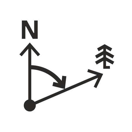 Scheme of azimuth (angular measurement)