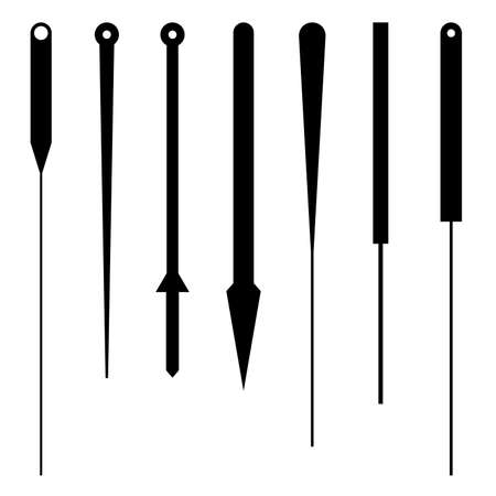 Set of acupuncture needles, shade pictures Vector illustration.