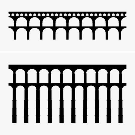 Ponts d'aqueduc romains, images d'ombre
