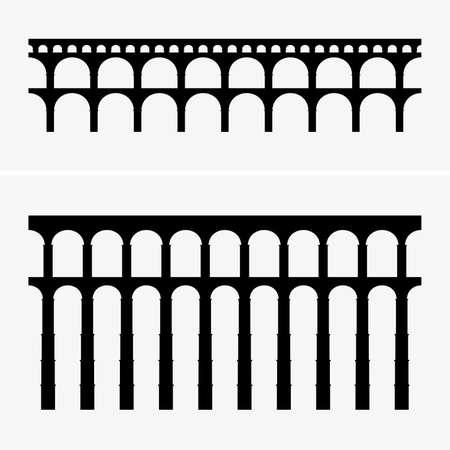 Roman aqueduct bridges, shade pictures