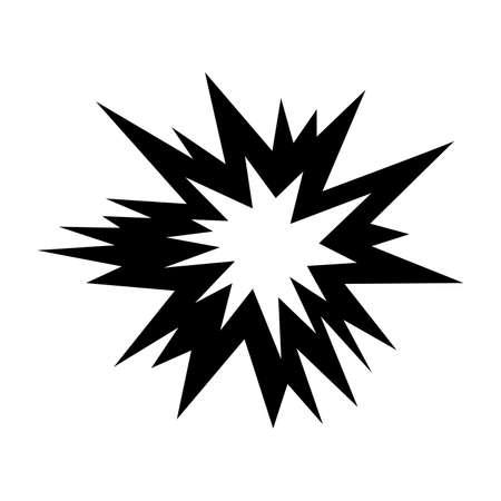 Símbolo de explosión Ilustración vectorial aislado sobre fondo blanco.