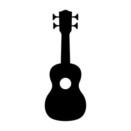 Ukulele (Hawaiian Guitar) Vector illustration isolated on white background.