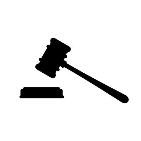 Judge gavel icon Vector illustration.