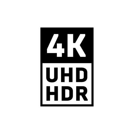 Ultra HD HDR symbol icon. Illustration