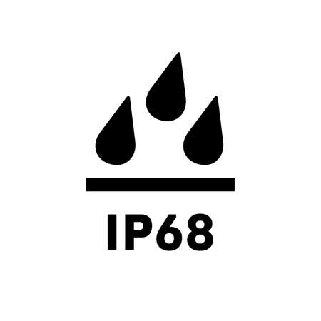International protection standard IP68 icon