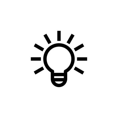 Bright glowing bulb icon