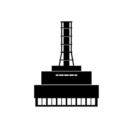 Nuclear power plant icon Illusztráció