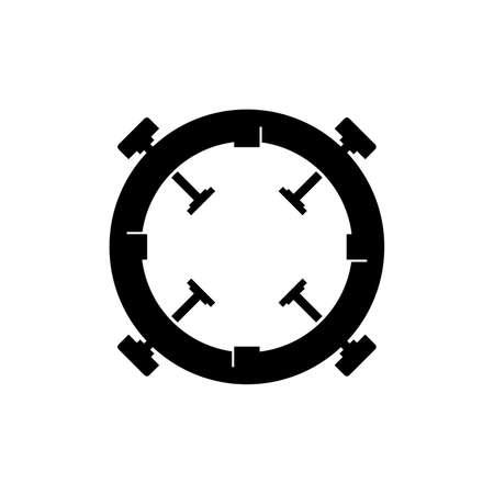 Bayonet mount icon Illustration