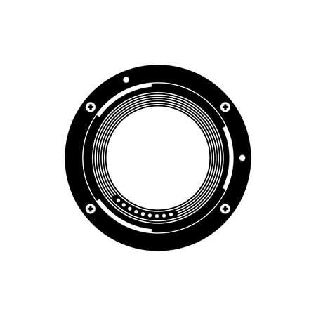 Photo camera bayonet mount icon
