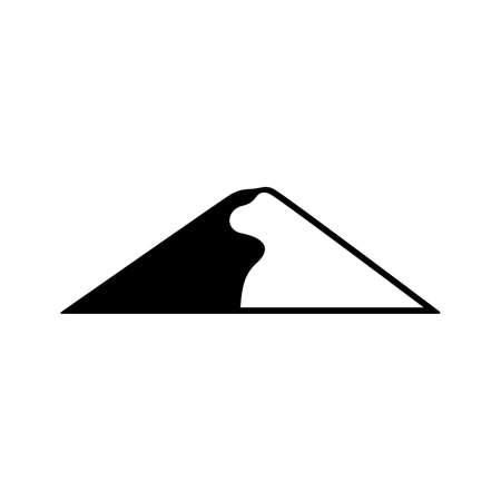 Barkhan, sand-dune icon Stock Illustratie