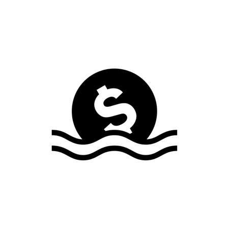 Bankruptcy problem icon Иллюстрация
