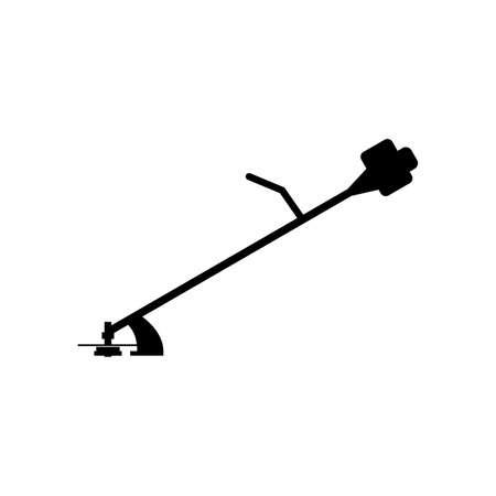 Gas (benzine) draagbare grasmaaier pictogram