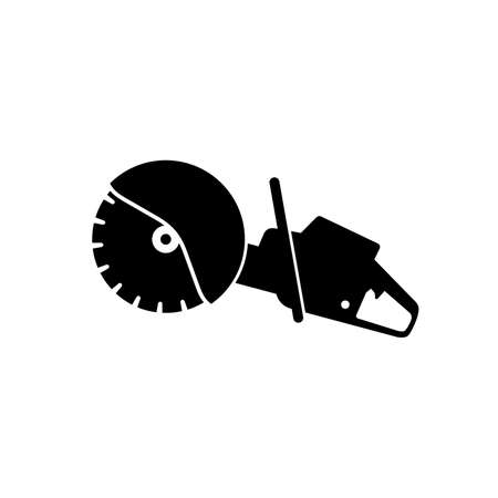 Petrol disc cutter icon