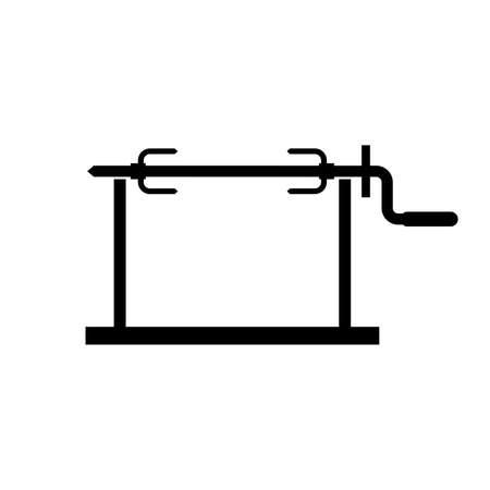 Roasting jack icon Ilustração