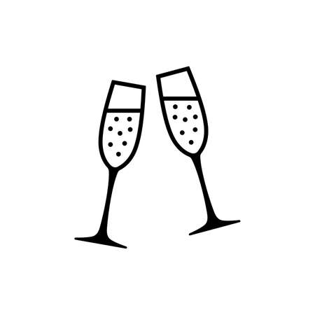 Champagner Flöten Symbol Standard-Bild - 102009150