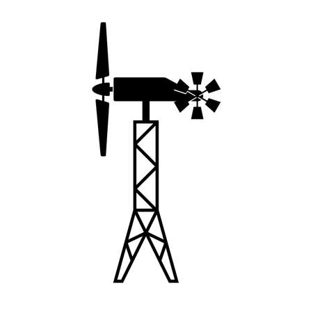 Wind generator with a windrose Illustration