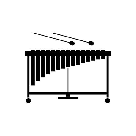 Vibraphone or vibraharp or vibes icon