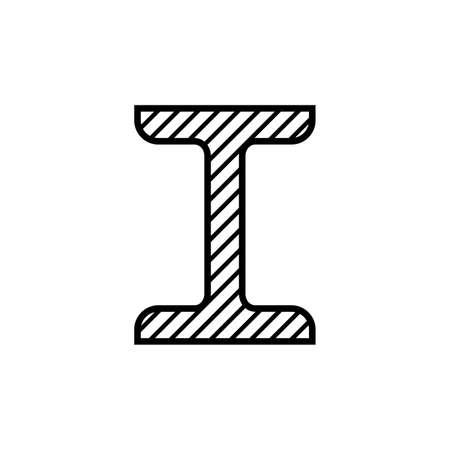 I-beam profile icon