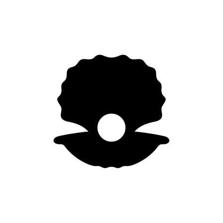 Offene Schale mit einer Perle in ihm Standard-Bild - 104006451