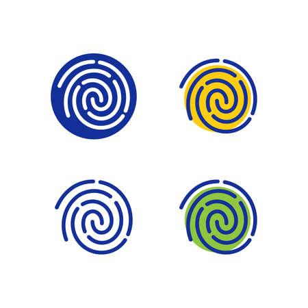 Finger print icons