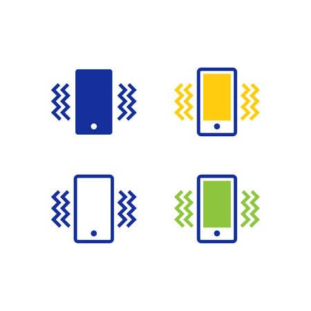 Smartphone vibration icons
