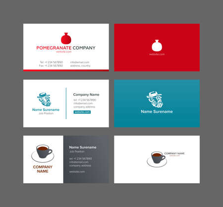 Three business cards Banque d'images - 104697000