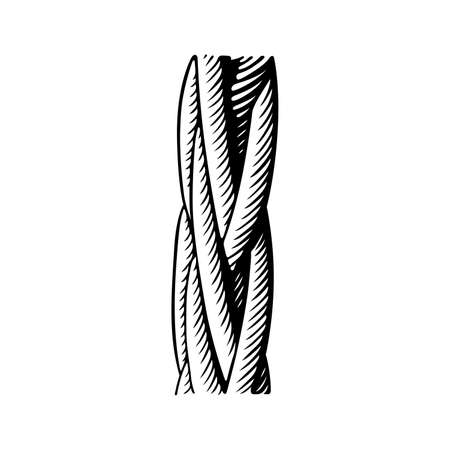 Wire rope fragment