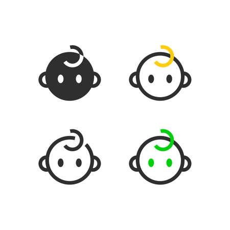 Child face icons